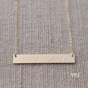 Jewelry - 14K Gold Filled Premium Engraved Bar Necklace